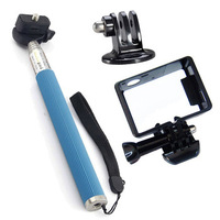 F05444-B Extendable Self-portrait Handheld Monopod + Tripod Mount + Standard Border Frame Mount for GoPro HD Hero 3 us freeship