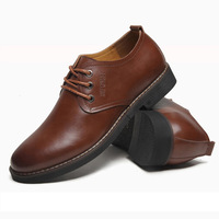 Men's Fashionable Lace-Up Shoes PU  Leather Shoes High Quality & Comfortable Shoes Business Style Free Shipping XMP014