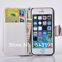 Hot SALE Fashion Leather Flip Ladies handbag Mobile Phone Bags Cover Case For iphone 5 5G 5s Free shipping !BH0236