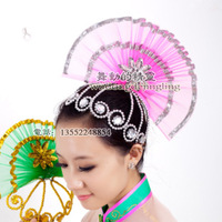 Hair accessory modern dance clothes hair accessory fan hair accessory younger
