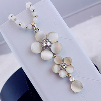 2013 Hot sale Fashion jewelry  camellia decoration long necklace pendant Free Shipping