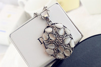 2013 Hot sale Fashion jewelry vintage cutout necklace pendant Free Shipping