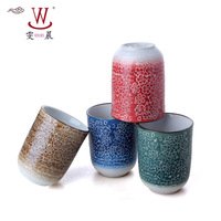 Tea set hand painting ceramic kiln japanese style tea cup straight cup straight cup large capacity style