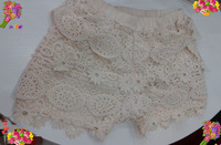 New Arrival Hot Sell Summer Fashion Girls Lace Hook Flower Shorts Baby Underwear 5pcs/Lot Size 2-8 wholesale