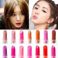Hot Sale!! 2014 New  Fashion Mixed Color Brand Mini Professional Comestics Rouge Makeup Lipstick Lip Balm Rouge 14 Colors