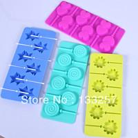 free shipping!4PCS Good Quality   Wholesale FDA silicone ice tray mold popsicle mold ice box ice cream popsicle mold