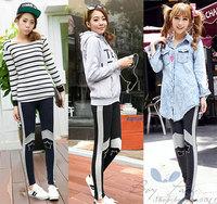 Free Shipping Fashion Women's Cotton Nine Minutes Of Pants Star Design Leggings Casual Pants