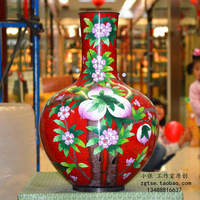 Copper enamel unique chingtai 15 taohuajiangriver bottle birthday gifts decoration