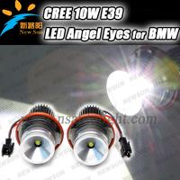 7000K Car LED Marker Angel Eye Headlight Lamp For BMW 04-07 E60 E61 E63 E64 M6 02-08 7-Series E65 E66 06-07 X3 E83 00-06