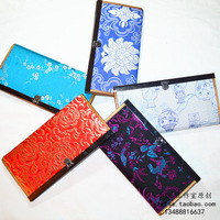 Gifts abroad vintage brocade silk wallet long design gorgeous satin female elegant gift wallet