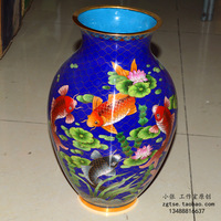 Copper filigree enamel cloisonne gift 12 vase decoration