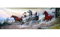 Free delivers goods, the handpainted oil painting, goes full steam ahead the decorative wall art oil painting,