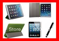 Free Shipping!!Plastic Back Transparent or Solid Cover Case WITH Smart Cover Magnetic Cover for ipad 5  Air