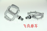 WELLGO R146 aluminum alloy pedals / Road bicycle pedals / bearing foot / bike pedals 320g Silver color
