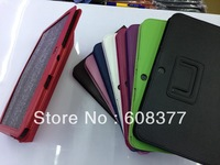 Leather Folio flip leather Case Cover for Samsung Galaxy Tab 3 10.1 P5200 P5220 leather case