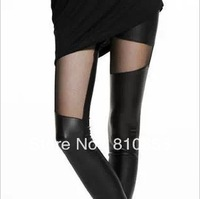 Free shipping Show Thin Winter  Leggings  For Women  Sexy Pu Legging  Pachwork Wholesale Price K618
