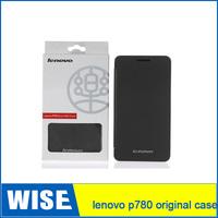 Free Shipping 100% Original Lenovo P780 Leather Case Black In Stock Lenovo P780 Case 3pcs/lot