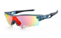 Designer Cycling Bicycle Sports Sunglass Men's/Women's Brand Radar Clear Grey Sports Sunglass Fire Iridium Silver Logo Polarized