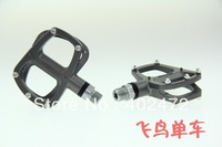 WELLGO R146 aluminum alloy pedals / Road bicycle pedals / bearing foot / bike pedals 320g Titanium color