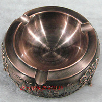 (Free to Russia) Tinwares russia quality bronze color - elegant ashtray