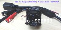 1.3 Megapixels HD  IP  Network camera Module ,  4mm or 6mm or 8mm lens ,720P @30fps