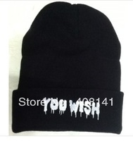 A spoof YOU WISH hat knitting hat HOMIES cold cap hip-hop dance cap
