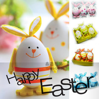 Easter Holiday gifts decoration supplies rabbit easter eggs three-color rabbit egg 1set/3pcs 10cm