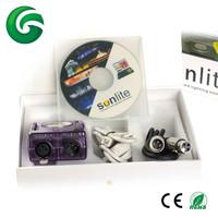 Free shipping 1024 sunlite usb dmx controller