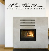 BLESS THIS HOME AND ALL WHO ENTER Vinyl wall lettering quotes wall decals