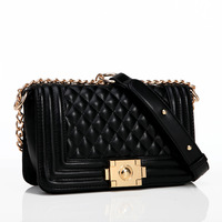 Fashion dimond - 2014 plaid chain bag one shoulder cross-body women's handbag bag