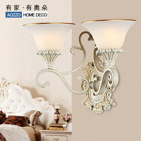 Free shipping fashion wall lamp brief ofhead lamps double slider wall lamp 70019 e