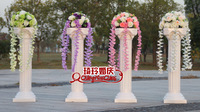 European Roman column with a ball hanging branch road led flower wholesale wedding wedding props road led plastic flower POTS