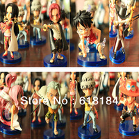 Free shipment japanese anime One Piece action figure set Sailing again Luffy, Rayleigh,Hancock, Trafalgar Law, Shanks 8 pcs/set