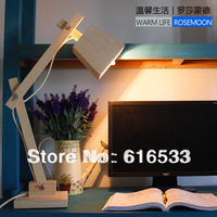 New 2014 Wood in the series of solid wood table lamp ofhead reading lamp table lamp