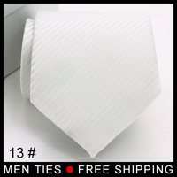 2014 New Arrival Style  White color High quality Men's tie Neck tie Necktie Business gift Gentle Gifts Free shipping