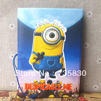 Hot Sale Travel accessories passport ID card cover holder Despicable Me Little Yellow man multi-function PU passport case