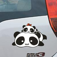 Cartoon stickers tare panda funny car stickers car sticker tare panda styling decals  helloday stiker
