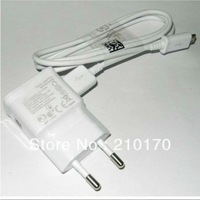 200pcs/lot 2A  wall home charger for Samsung Galaxy  N7100 galaxy s4 i9500 adapter + High quality micro USB Cable