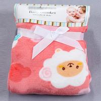 Cute Animal Print Super Soft Plush Coral Baby Blanket Bedding Blankets Warm Blanket 100*120cm