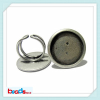 Beadsnice ID10412 free shipping handmade ring settings wholesale unique adjustable ring bases blanks 25mm for your design