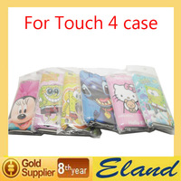 Hot sale High Quality Case For Touch 4 Cartoon Case Dir-resistant  Free Shipping