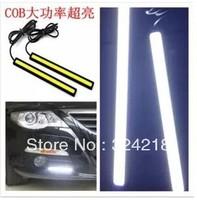 2 X 12V Super Bright White/red/blue 15W COB LED DRL Driving Daytime Running Lights lamp Aluminum 100led Chip Bar head light cob