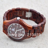 High Grade  Luxury Natural Sandal Wood Watches Wooden Calibration Dail Sport Man Mens Boy Wrist Watches