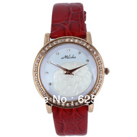 Arrival Leather Strap Elegant Design Ladies Wrist Watch Long Lasting Ionic Plating Rose Dial Famous Brand 4 Colors Combo