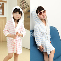 100% cotton child bathrobe male female baby bath towel child bathrobe