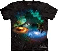 Free shipping men and women 3D t shirt made in USAThe mountain dj disc tie-dyeing retro finishing short-sleeve shirt