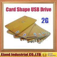 USB Flash Drvie 2.0 Card Shape USB Flash 2G Memory