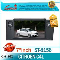 Free Shipping cheap Model LSQ STAR  Car Autoradio for Citroen C4L with gps SD USB IPOD TV new hot