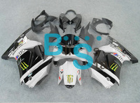 Handcrafted Complete fairing kit for Ninja 250R 08 09 10 2008 2009 2010 ZX250R ZX 250 EX250 08 09 10 Black Gray