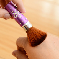 Min. order is $15 (mix order) Professional casing retractable  blush blusher loose powder brush beauty  cosmetic tools   5197